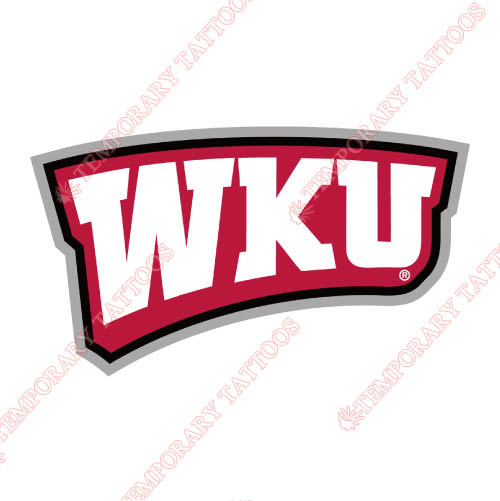 Western Kentucky Hilltoppers Customize Temporary Tattoos Stickers NO.6984