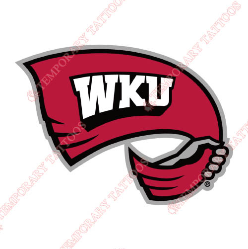 Western Kentucky Hilltoppers Customize Temporary Tattoos Stickers NO.6985