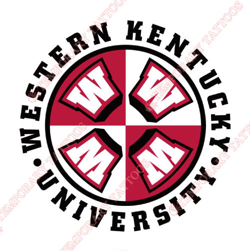Western Kentucky Hilltoppers Customize Temporary Tattoos Stickers NO.6986