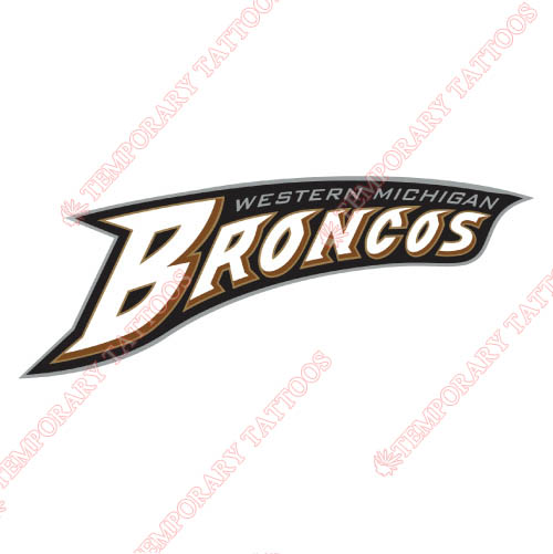 Western Michigan Broncos Customize Temporary Tattoos Stickers NO.6991