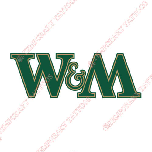 William and Mary Tribe Customize Temporary Tattoos Stickers NO.7002