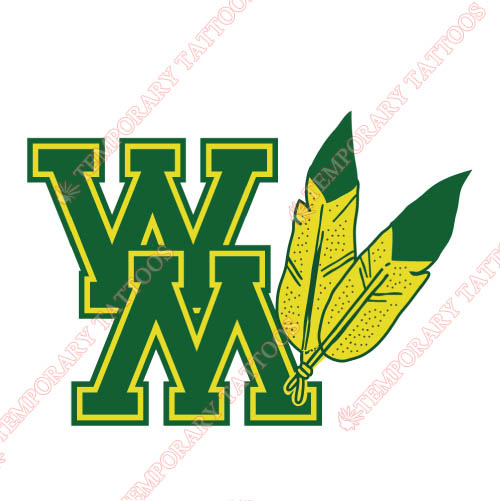 William and Mary Tribe Customize Temporary Tattoos Stickers NO.7003