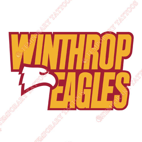 Winthrop Eagles Customize Temporary Tattoos Stickers NO.7011