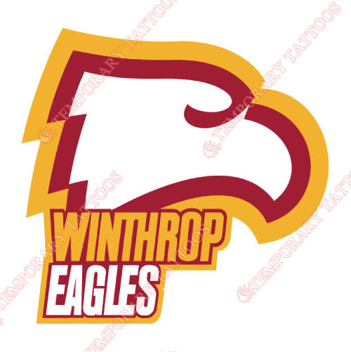 Winthrop Eagles Customize Temporary Tattoos Stickers NO.7016