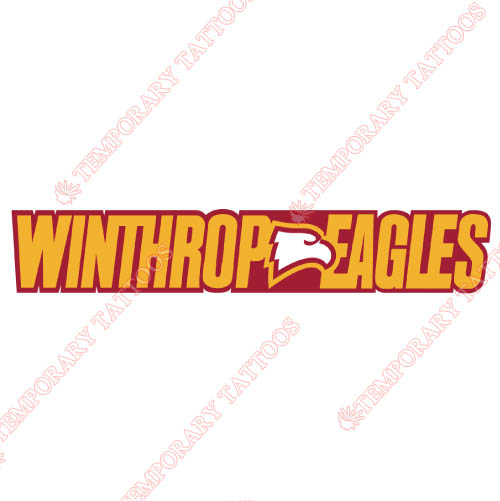 Winthrop Eagles Customize Temporary Tattoos Stickers NO.7018
