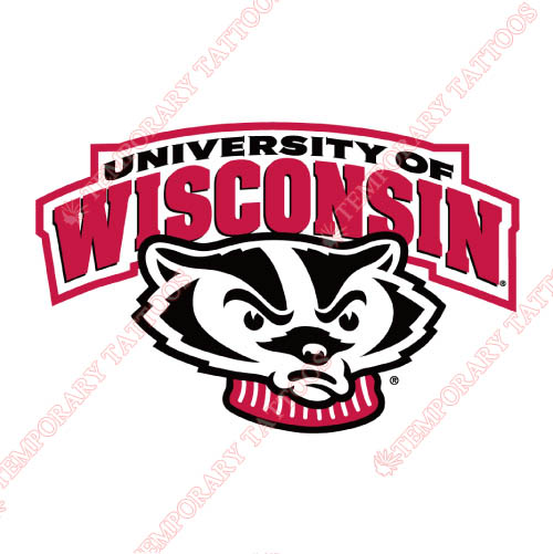 Wisconsin Badgers Customize Temporary Tattoos Stickers NO.7019