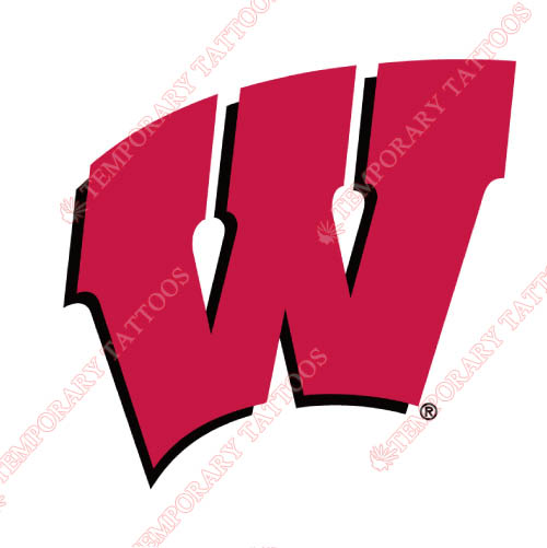 Wisconsin Badgers Customize Temporary Tattoos Stickers NO.7020