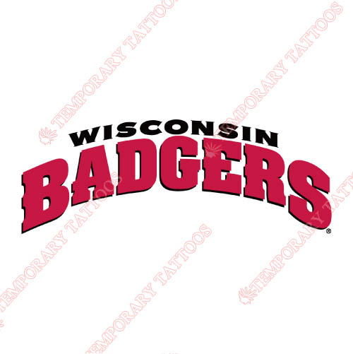 Wisconsin Badgers Customize Temporary Tattoos Stickers NO.7021