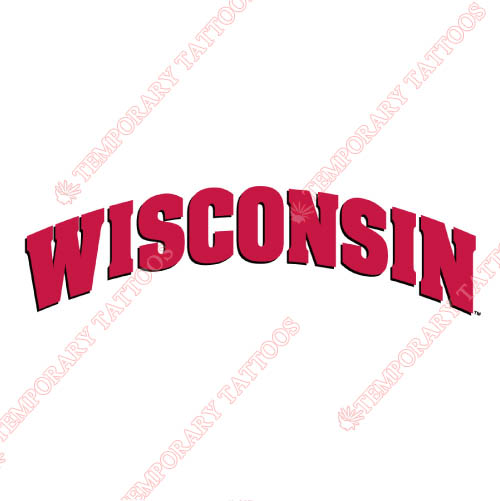 Wisconsin Badgers Customize Temporary Tattoos Stickers NO.7022