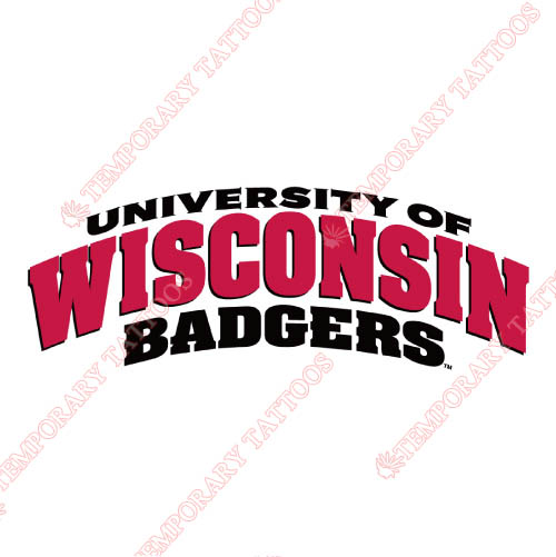 Wisconsin Badgers Customize Temporary Tattoos Stickers NO.7023