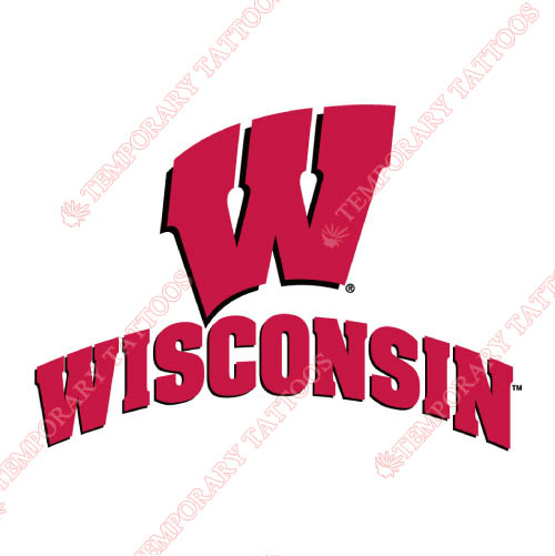 Wisconsin Badgers Customize Temporary Tattoos Stickers NO.7024
