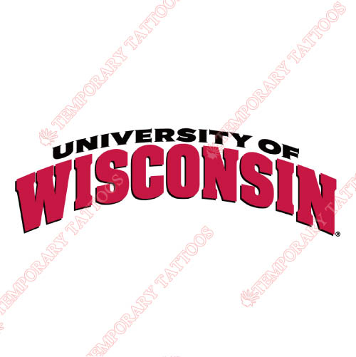 Wisconsin Badgers Customize Temporary Tattoos Stickers NO.7025
