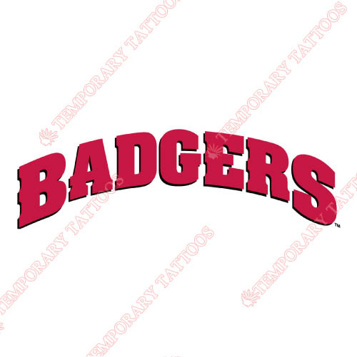 Wisconsin Badgers Customize Temporary Tattoos Stickers NO.7026