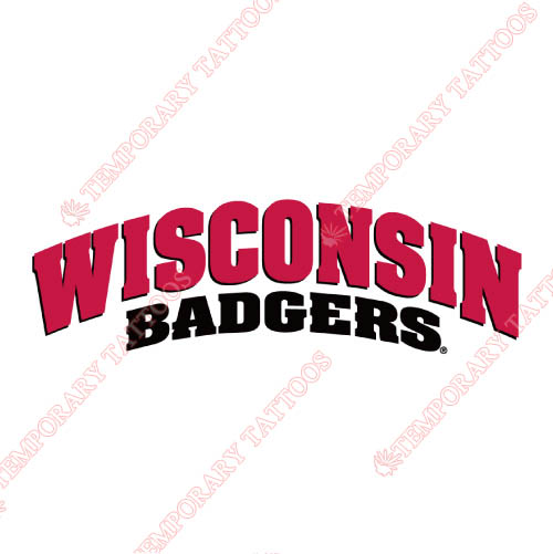 Wisconsin Badgers Customize Temporary Tattoos Stickers NO.7028