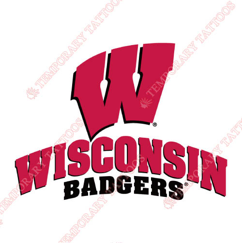 Wisconsin Badgers Customize Temporary Tattoos Stickers NO.7029