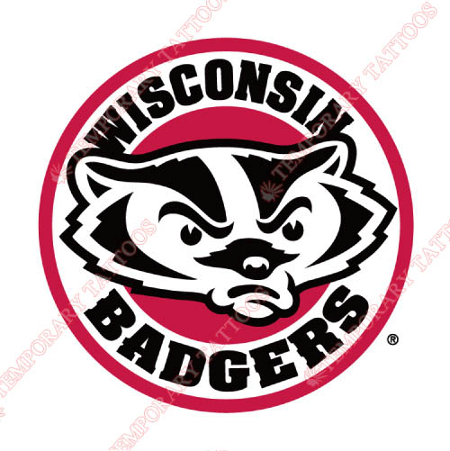 Wisconsin Badgers Customize Temporary Tattoos Stickers NO.7030