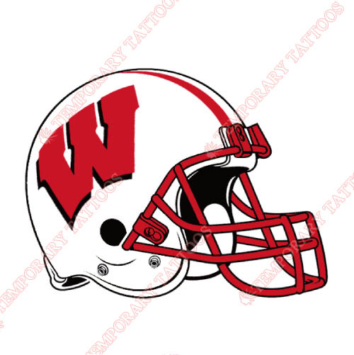 Wisconsin Badgers Customize Temporary Tattoos Stickers NO.7031