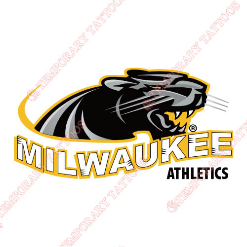 Wisconsin Milwaukee Panthers Customize Temporary Tattoos Stickers NO.7036