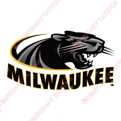 Wisconsin Milwaukee Panthers Customize Temporary Tattoos Stickers NO.7038
