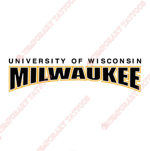 Wisconsin Milwaukee Panthers Customize Temporary Tattoos Stickers NO.7040
