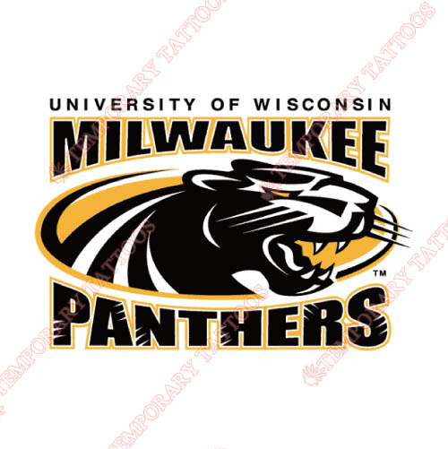 Wisconsin Milwaukee Panthers Customize Temporary Tattoos Stickers NO.7042