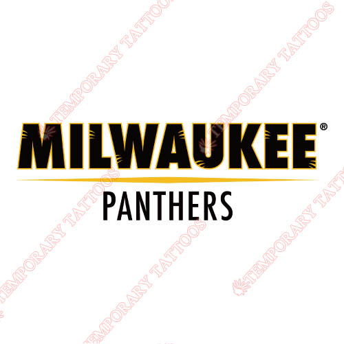 Wisconsin Milwaukee Panthers Customize Temporary Tattoos Stickers NO.7045