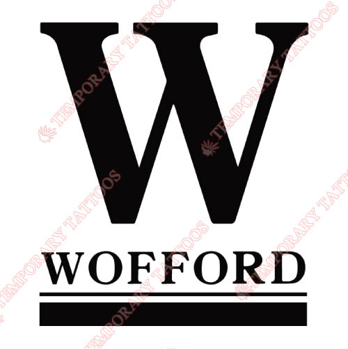 Wofford Terriers Customize Temporary Tattoos Stickers NO.7047