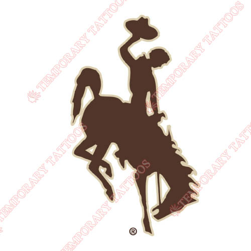 Wyoming Cowboys Customize Temporary Tattoos Stickers NO.7066