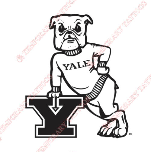 Yale Bulldogs Customize Temporary Tattoos Stickers NO.7090