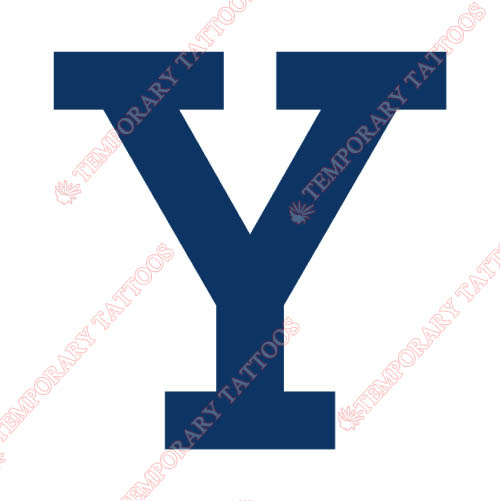 Yale Bulldogs Customize Temporary Tattoos Stickers NO.7093