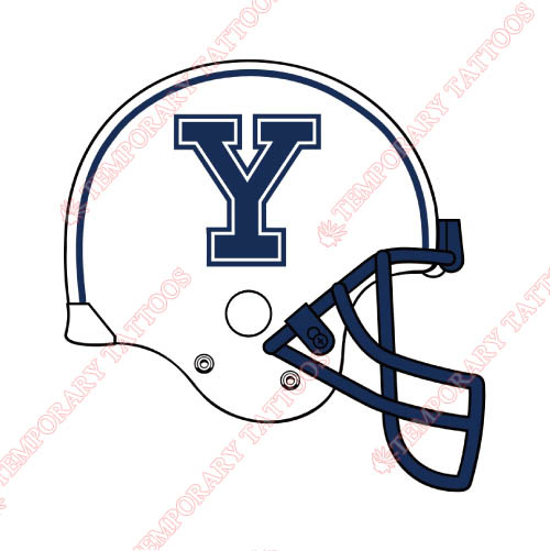 Yale Bulldogs Customize Temporary Tattoos Stickers NO.7094