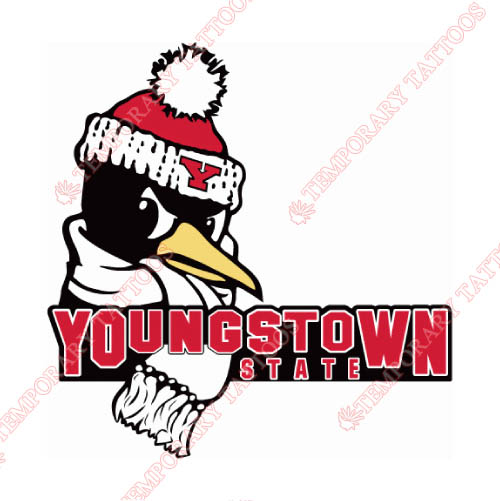 Youngstown State Penguins Customize Temporary Tattoos Stickers NO.7095