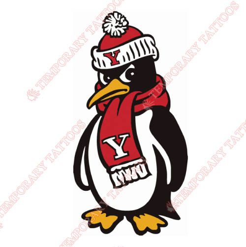 Youngstown State Penguins Customize Temporary Tattoos Stickers NO.7096