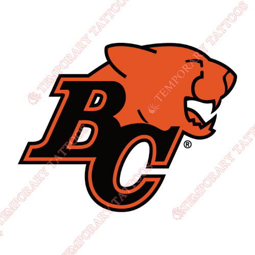 BC Lions Customize Temporary Tattoos Stickers NO.7571