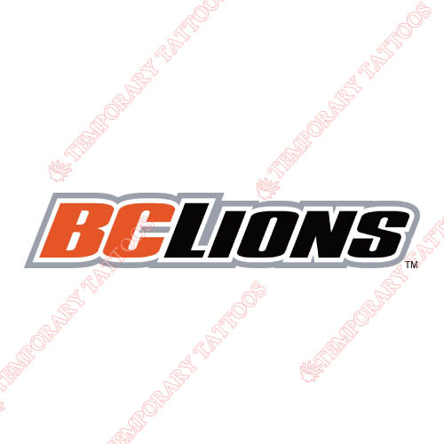 BC Lions Customize Temporary Tattoos Stickers NO.7572