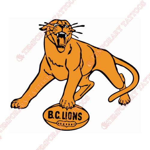 BC Lions Customize Temporary Tattoos Stickers NO.7574