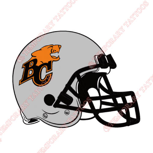 BC Lions Customize Temporary Tattoos Stickers NO.7575