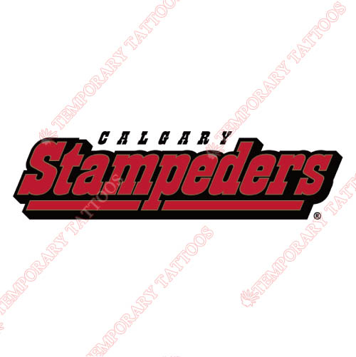 Calgary Stampeders Customize Temporary Tattoos Stickers NO.7585