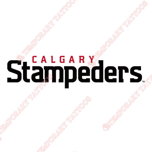 Calgary Stampeders Customize Temporary Tattoos Stickers NO.7586