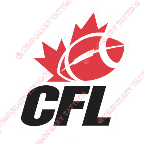 Canadian Football League Customize Temporary Tattoos Stickers NO.7645