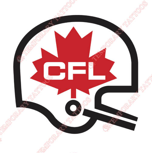 Canadian Football League Customize Temporary Tattoos Stickers NO.7646