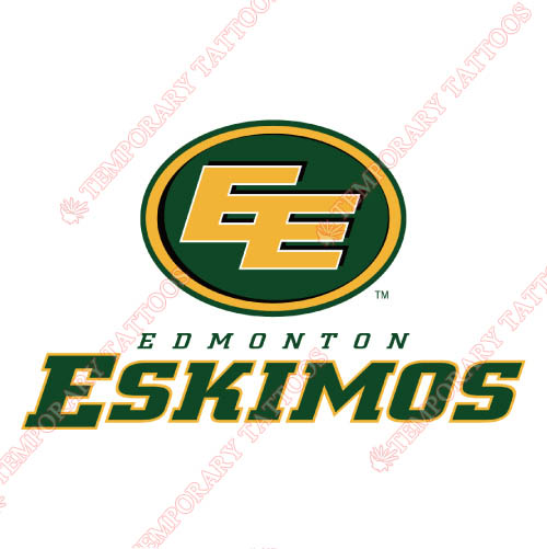 Edmonton Eskimos Customize Temporary Tattoos Stickers NO.7589