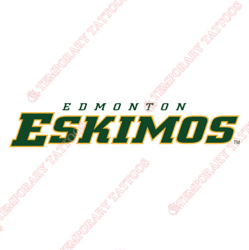 Edmonton Eskimos Customize Temporary Tattoos Stickers NO.7590