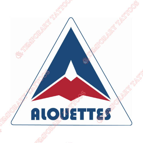Montreal Alouettes Customize Temporary Tattoos Stickers NO.7606
