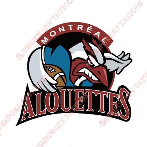 Montreal Alouettes Customize Temporary Tattoos Stickers NO.7608