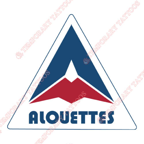 Montreal Alouettes Customize Temporary Tattoos Stickers NO.7609