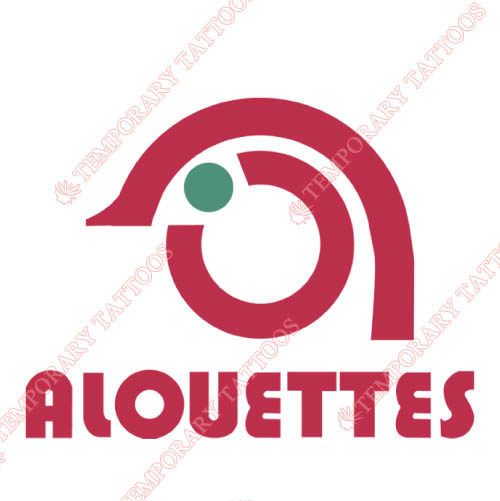 Montreal Alouettes Customize Temporary Tattoos Stickers NO.7610