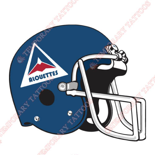 Montreal Alouettes Customize Temporary Tattoos Stickers NO.7613