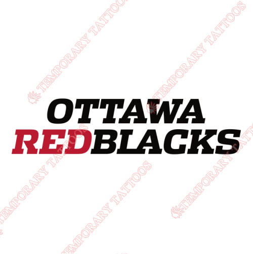 Ottawa RedBlacks Customize Temporary Tattoos Stickers NO.7617