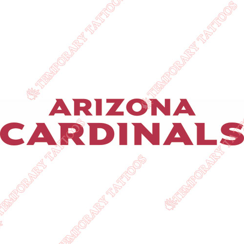 Arizona Cardinals Customize Temporary Tattoos Stickers NO.385